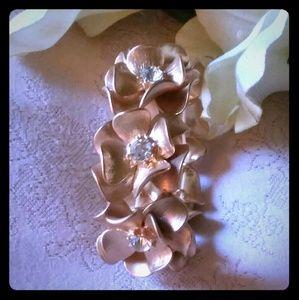 Jewelry - Vintage Floral Crystal Rhinestone Bracelet